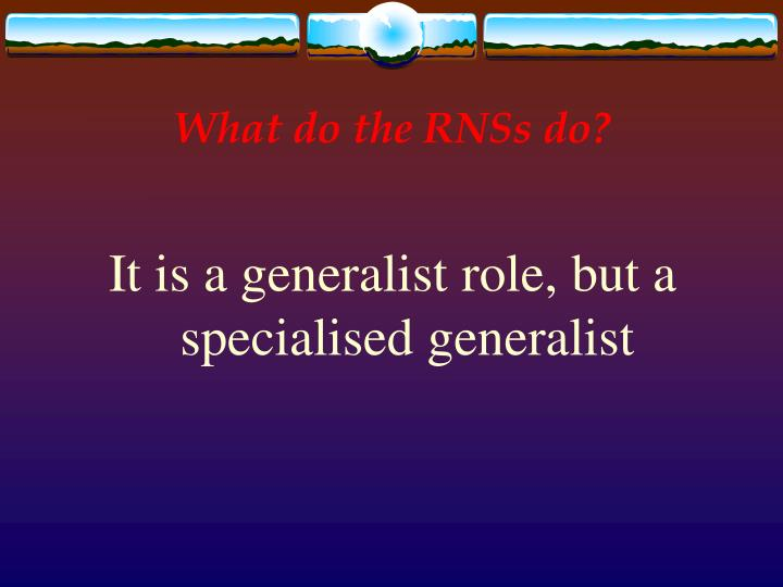 What do the RNSs do?