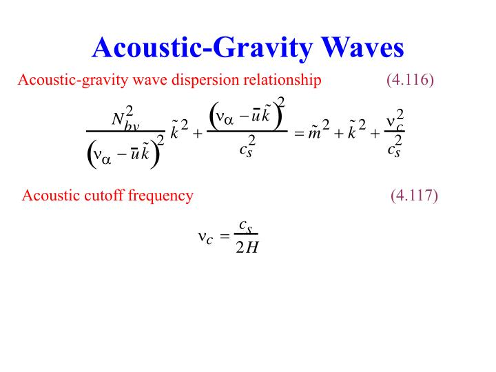 Acoustic-Gravity Waves