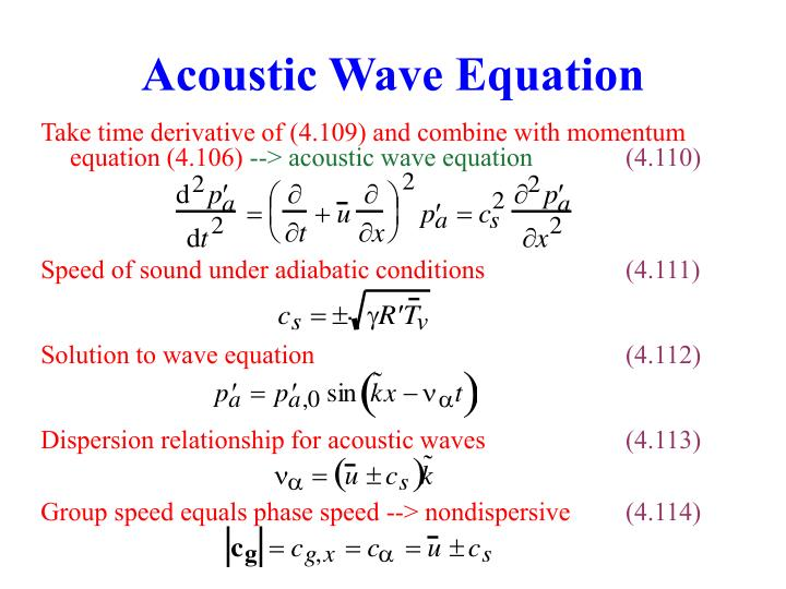 Acoustic Wave Equation