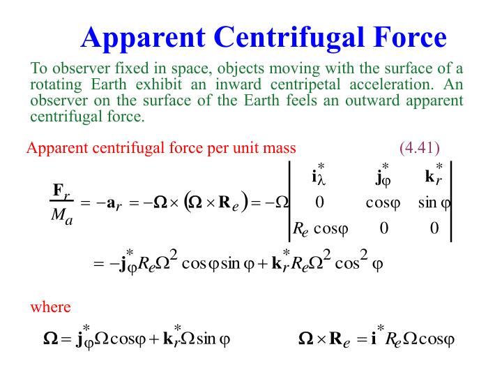 Apparent Centrifugal Force