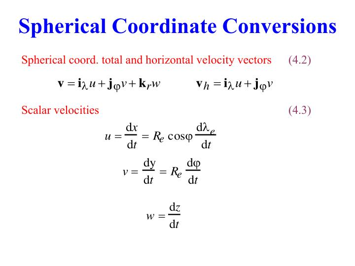 Spherical Coordinate Conversions
