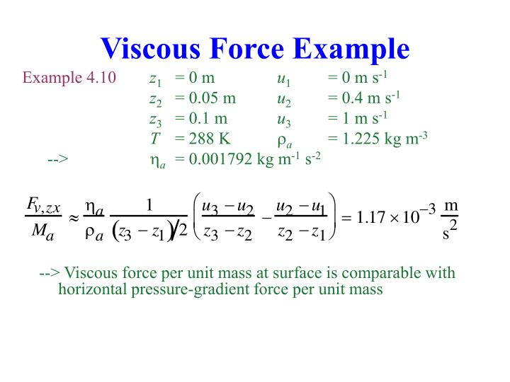 Viscous Force Example