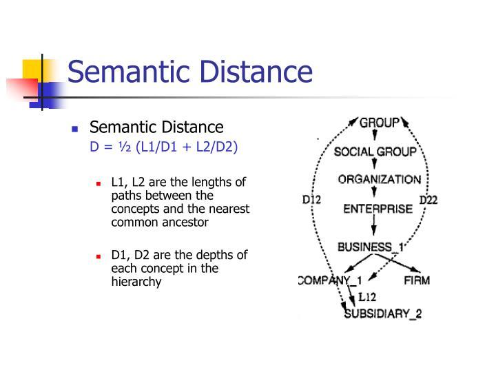Semantic Distance