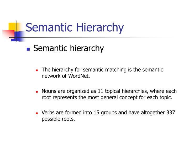 Semantic Hierarchy