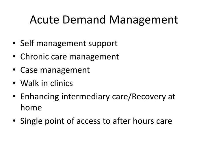 Acute Demand Management