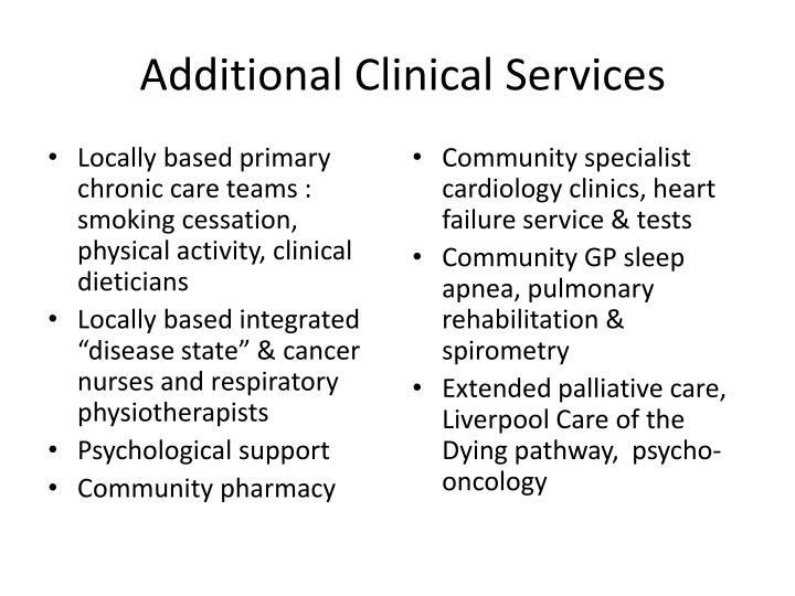 Additional Clinical Services