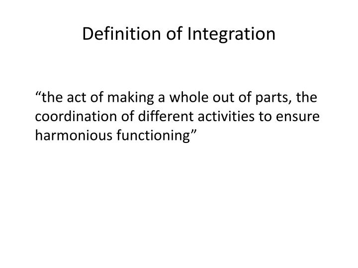 Definition of Integration