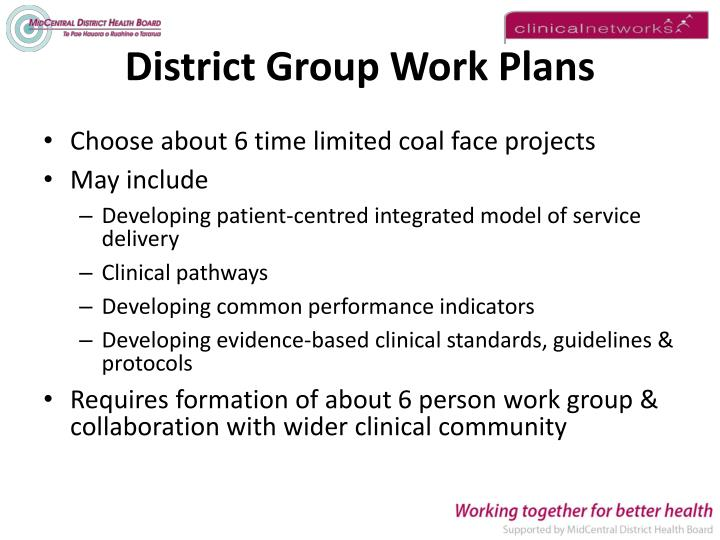 District Group Work Plans