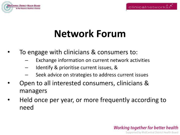 Network Forum
