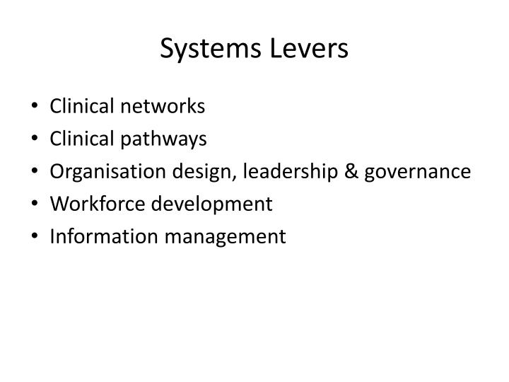 Systems Levers
