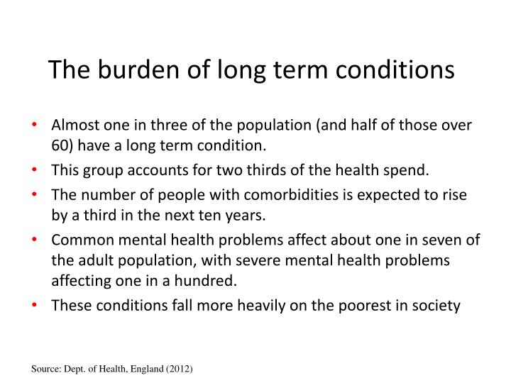 The burden of long term conditions