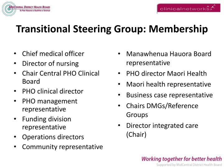 Transitional Steering Group: Membership
