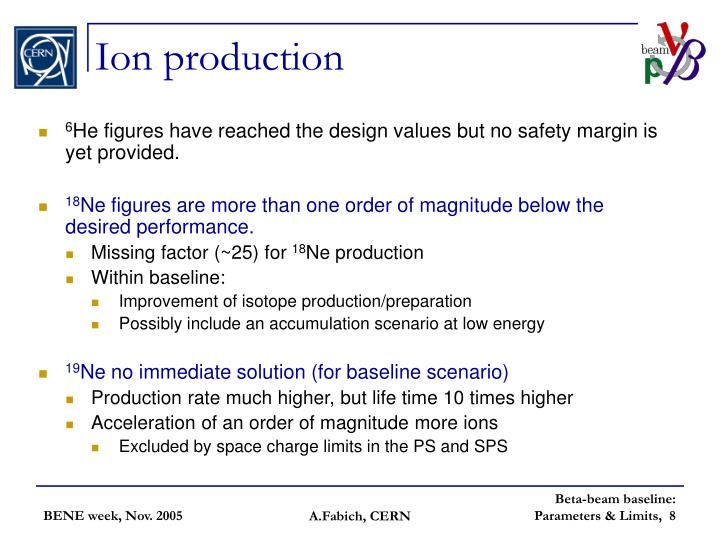 Ion production