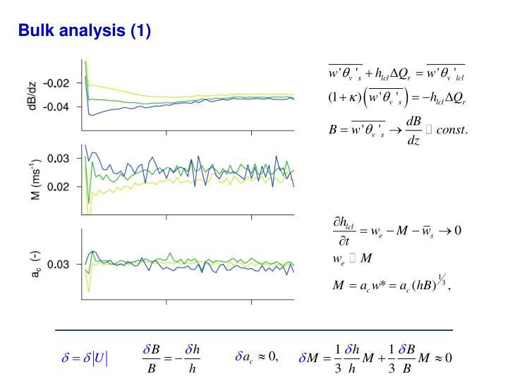 Bulk analysis (1)