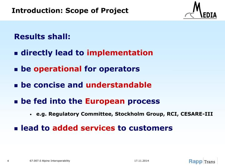 Introduction: Scope of Project