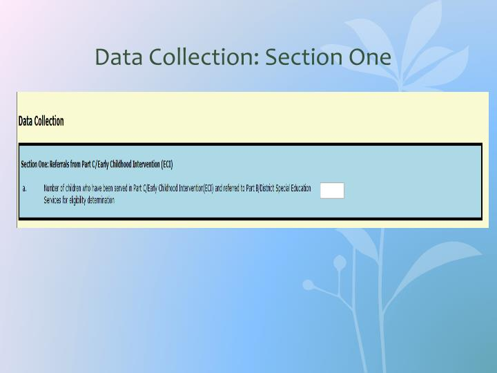Data Collection: Section One