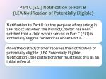 part c eci notification to part b lea notification of potentially eligible