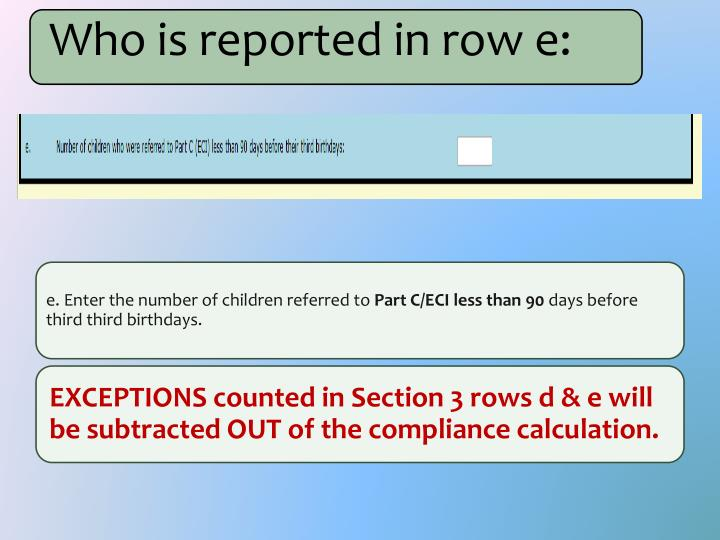 Who is reported in row