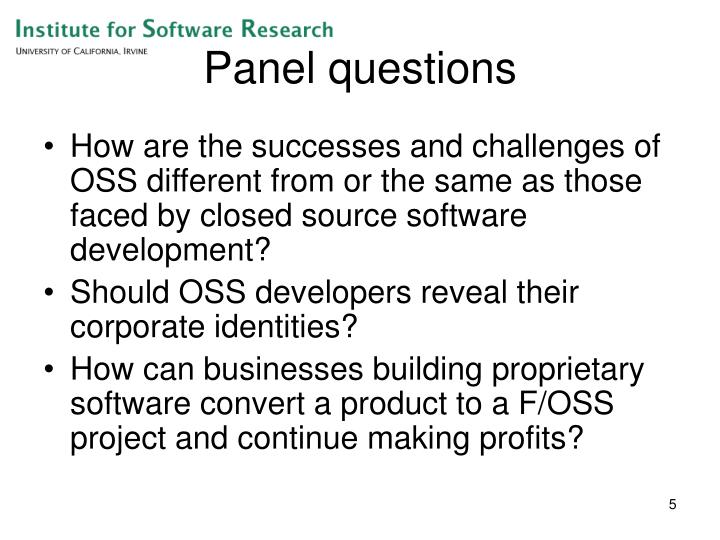 Panel questions