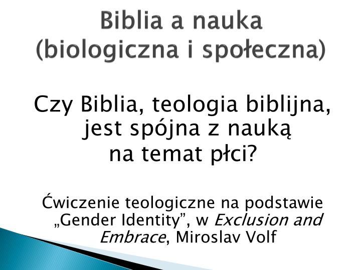 Biblia a nauka