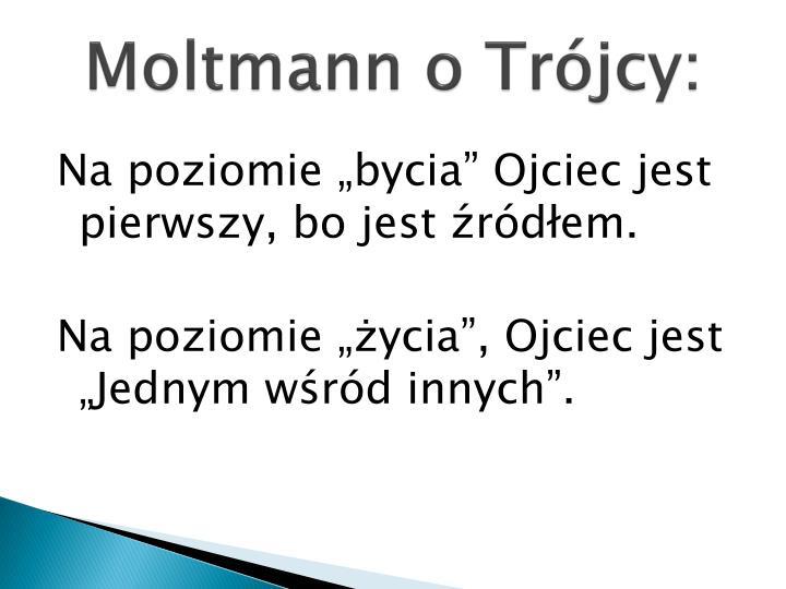 Moltmann o Trójcy:
