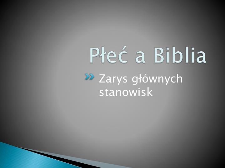 Płeć a Biblia