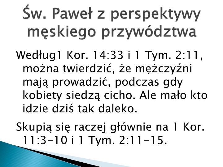 Św. Paweł z perspektywy