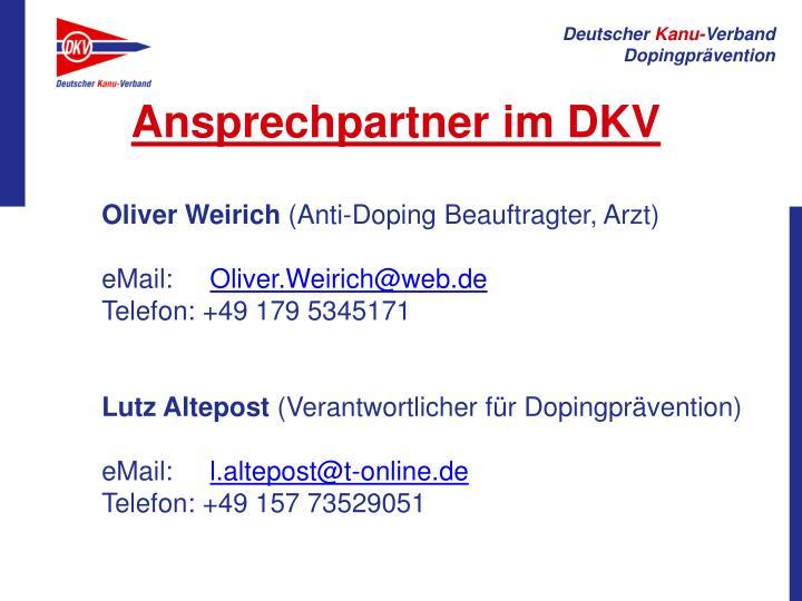 Ansprechpartner im DKV
