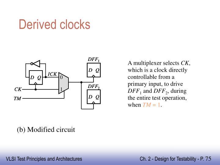 Derived clocks
