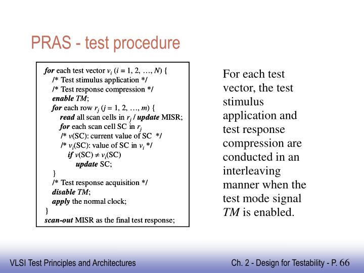 PRAS - test procedure