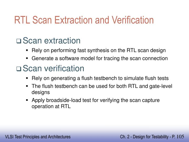 RTL Scan Extraction and Verification