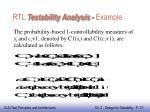 rtl testability analysis example1