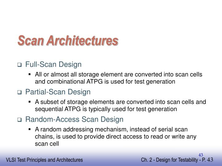 Scan Architectures