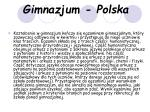 gimnazjum polska