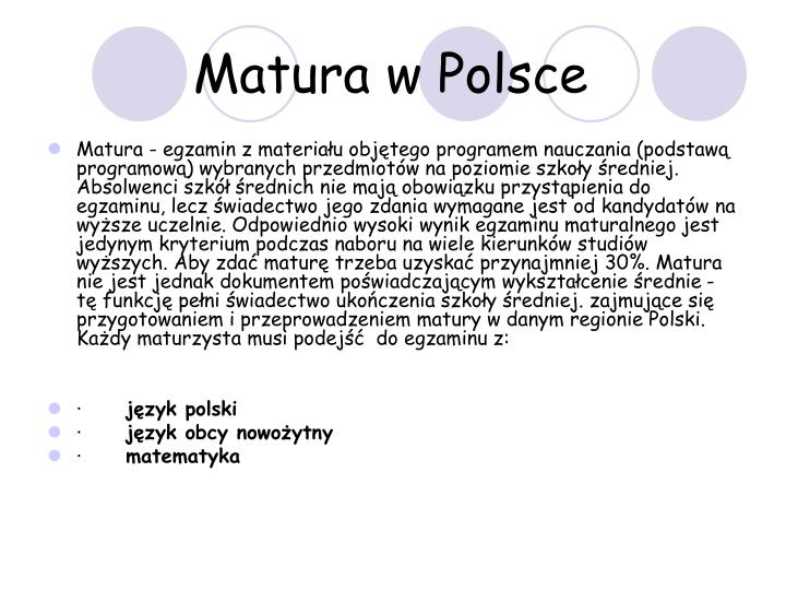 Matura w Polsce