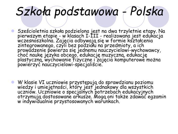 Szkoła podstawowa - Polska