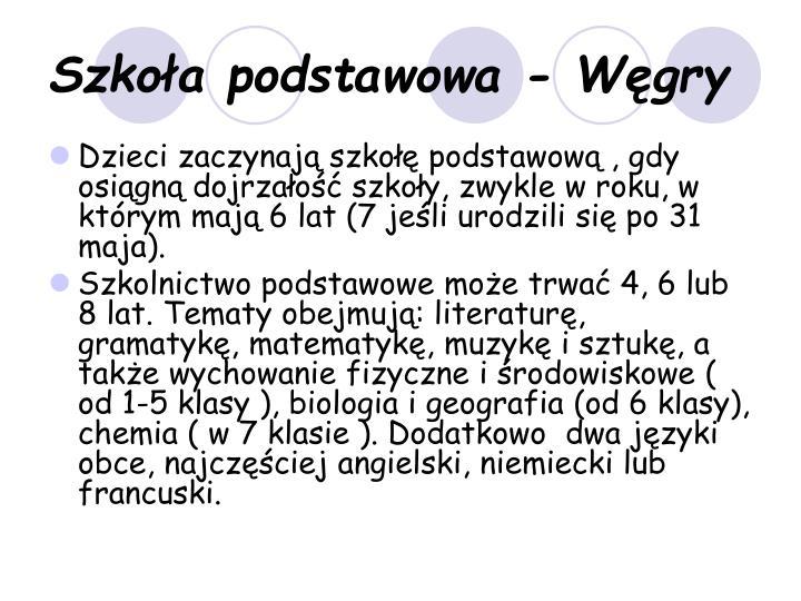 Szkoła podstawowa - Węgry