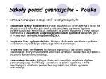 szko y ponad gimnazjalne polska