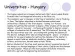 universities hungary