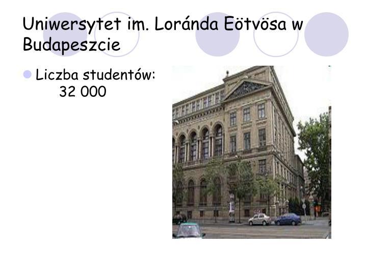Uniwersytet im. Loránda Eötvösa w Budapeszcie