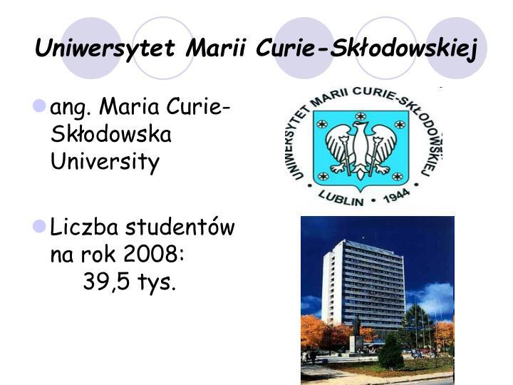Uniwersytet Marii Curie-Skłodowskiej