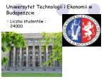 uniwersytet technologii i ekonomii w budapeszcie
