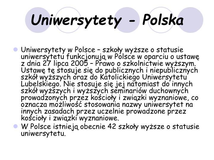 Uniwersytety - Polska