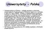 uniwersytety polska