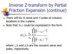 inverse z transform by partial fraction expansion continue