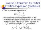 inverse z transform by partial fraction expansion continue1