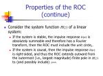 properties of the roc continue1