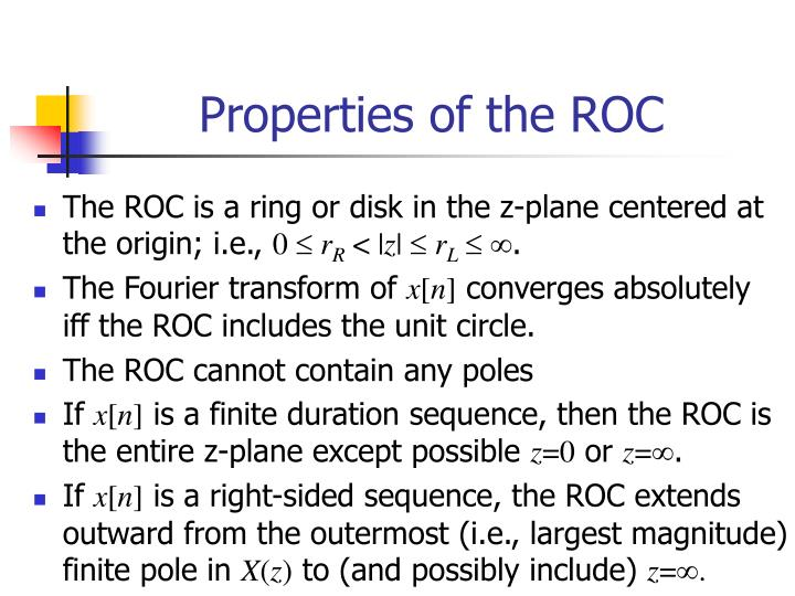 Properties of the ROC