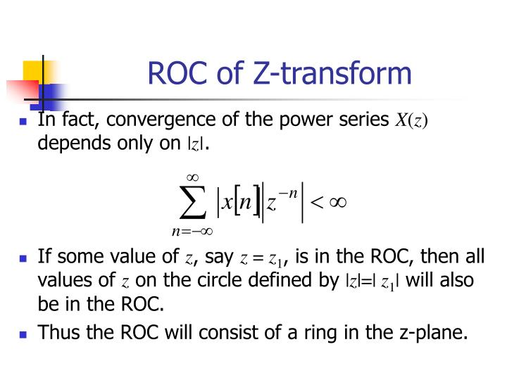 ROC of Z-transform