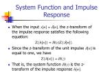 system function and impulse response